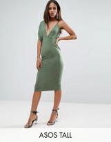 ASOS Tall ASOS TALL One Sleeve Asymmetric Midi Dress