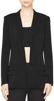 ATM Anthony Thomas Melillo Crepe Shawl Collar Blazer