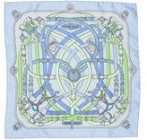 Hermes Cavalcadour Silk Pocket Square