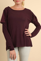 Umgee USA Peep Shoulder Top