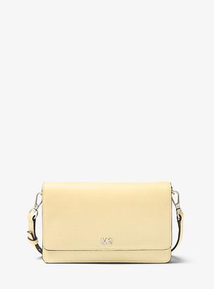 MICHAEL Michael Kors MK Pebbled Leather Convertible Crossbody Bag - Truffle - Michael Kors