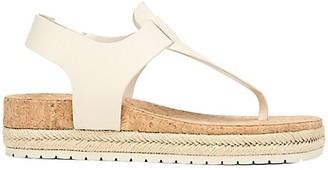 Vince Flint Leather Espadrille Thong Sandals