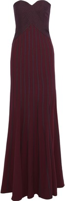 Halston Strapless Two-tone Crepe Gown