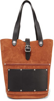 Alexander Wang Mason leather-trimmed suede tote