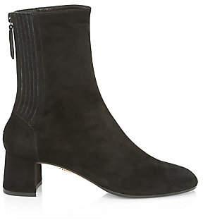 Aquazzura Women's Saint Honore Suede Ankle Boots