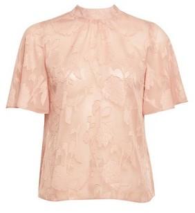 Dorothy Perkins Womens Dp Petite Coral Short Sleeve Jacquard Top
