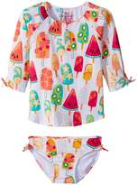 Hatley Fruity Lollies Rashguard Set Girl's Swimwear Sets