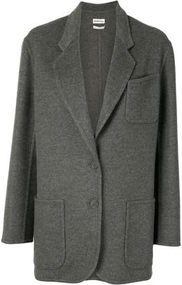 Hermes Pre-Owned Cashmere Single-Breasted Coat