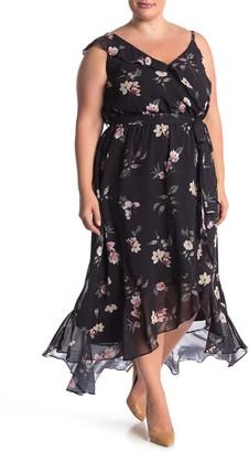City Chic Captivate Floral Print Dress (Plus Size)