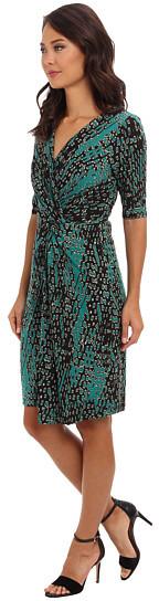 Adrianna Papell V-Neck Dress w/ Twist Knot