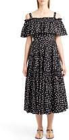 Dolce & Gabbana Women's Polka Dot Cold Shoulder Dress