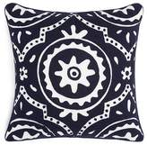 "Sky Indigo Patchwork Crewel Decorative Pillow, 18"" x 18"" - 100% Exclusive"