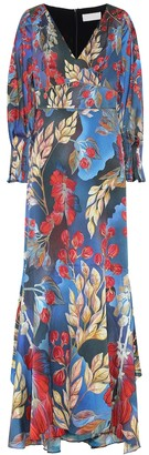 Peter Pilotto Printed stretch-silk midi dress