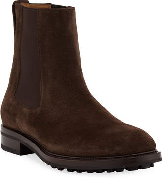 Tom Ford Men's Stuart Lug-Sole Suede Ankle Boots