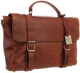 Frye Men's Logan Antique Pull Up Flap Briefcase