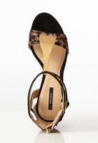 Forever 21 Metal T-Strap Leopard Print Sandals