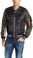 Alpha Industries Men's Ma‐1 Varsity Bomber Jacket