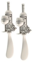 Thirstystone Wine Bottle Spreaders Set of 2 - Pewter