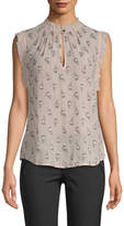 Rebecca Taylor Women's Sleeveless tulip clip top
