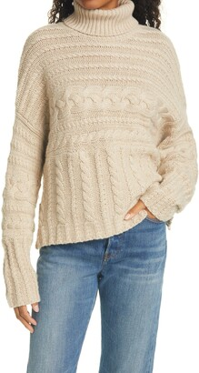 La Ligne Cashmere Cable Turtleneck Sweater