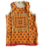 Celine Orange Silk Top