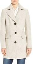 Gallery Notch Collar Tweed Coat (Regular & Petite)
