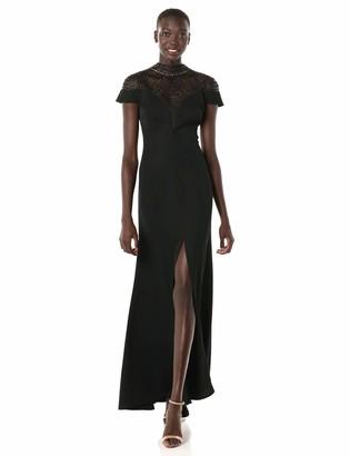 Tadashi Shoji Women's S/S Crepe Gown/Split