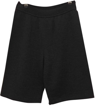 Rena Lange Anthracite Wool Shorts for Women
