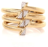David Webb Diamond Crossover Nail Bangles