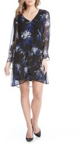 Karen Kane Women's Flare Sleeve Print Chiffon Dress
