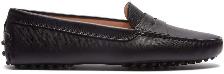 Tod's Gommino saffiano-leather loafers