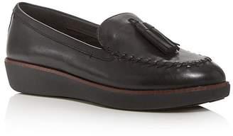 FitFlop Women's Petrina Wedge Moc-Toe Platform Loafers