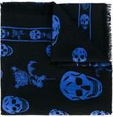 Alexander McQueen skull and badge scarf