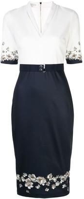 Ted Baker colour-block midi dress
