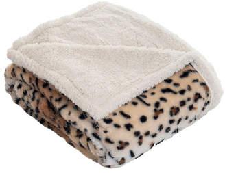 Baldwin Home Fleece Sherpa Tiger Blanket Throw