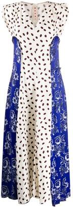 Marni Mixed Print Long Dress