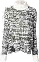Jay Ahr contrast high neck pullover - women - Acrylic/Wool - 34