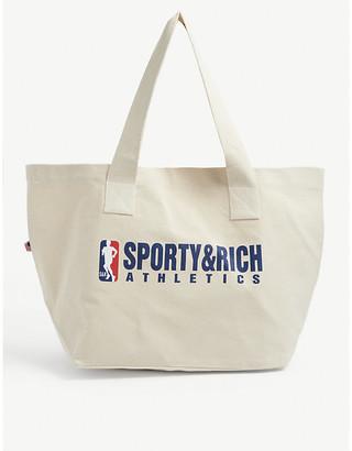 Sporty & Rich Team logo-print cotton tote bag