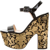 Christian Louboutin Patent Leather Platform Sandals