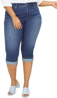 NYDJ Plus Marilyn Cropped Cuffed Jeans in Junipero