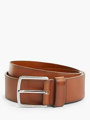 HUGO BOSS Sjeeko Leather Belt, Tan