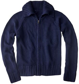 Basics By Sunshine Swing Basics by Sunshine Swing Girls' Cardigans - Navy Zip-Up Sweater - Girls