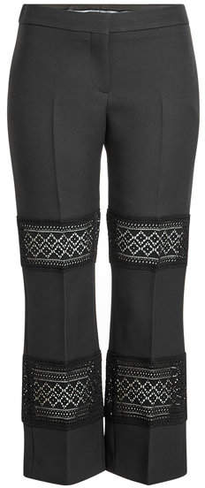 Alexander McQueen Wool and Silk Pants with Lace Panels