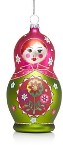 Bloomingdale's Glass Nesting Doll Ornament - 100% Exclusive