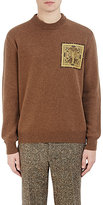 Givenchy Men's Cobra-Patch Sweater-BROWN