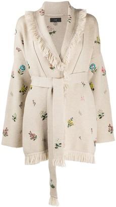 Alanui Grunge Garden embroidered cardigan