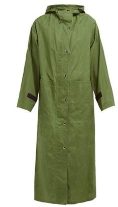 Kassl Editions Parachut Hooded Cotton Raincoat - Green