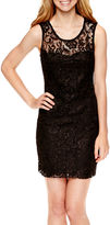 JCPenney LOVE REIGNS Love Reigns Sleeveless Allover Lace Dress - Juniors