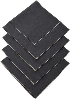 La Gallina Matta Set-Of-Four Linen Napkins