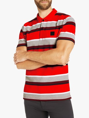 HUGO BOSS BOSS Block Stripe Regular Fit Polo Shirt